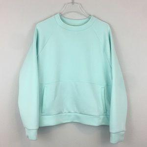 Zella Aqua Blue Active Sweatshirt   XL